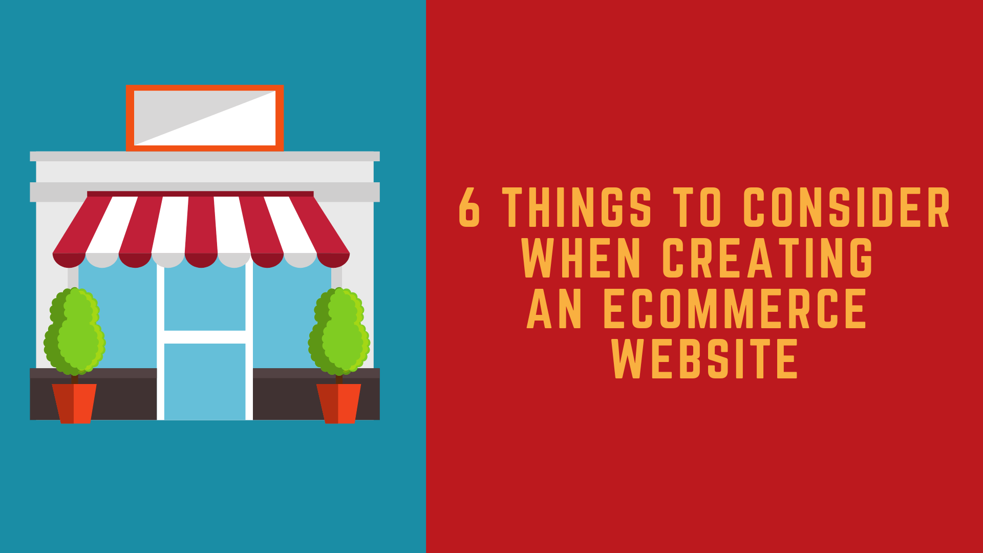 6 things to consider when building an eCommerce website